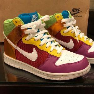 Women's Rainbow Nike Dunk High Top Premium Sneaker